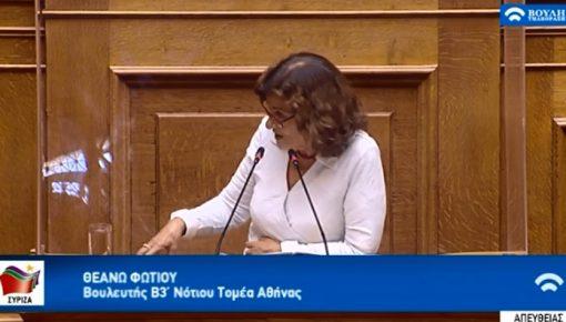Ομιλία στην ολομέλεια στις 08/05/2020 για το Σ/Ν «βελτίωση μεταναστευτικής νομοθεσίας»