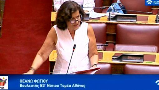 Επίκαιρη ερώτηση  στον  Υπουργό Εσωτερικών κ. Θεοδωρικάκο με θέμα: «Αδιαφανής και σκανδαλώδης ανάθεση, σε ιδιώτες, κατά παρέκκλιση της ισχύουσας νομοθεσίας, της δημιουργίας και λειτουργίας δημοτικών ΚΔΑΠ, με εκχώρηση των κερδών από τα vouchers του προγράμματος «Εναρμόνιση Επαγγελματικής με Οικογενειακή Ζωή».