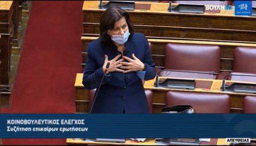 Επίκαιρη ερώτηση προς την υφυπουργό κα Μιχαηλίδου για το φλέγον ζήτημα της λειτουργίας των ΚΔΑΠ